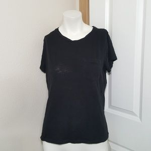 Madewell top medium pocket tee sheer black